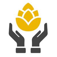 Majstri sládkovia: symbol ruky a chmeľu.