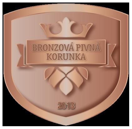 Logo - Bronzová Pivná Korunka - 2013 - Pivo Vŕšky