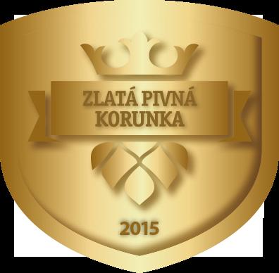 Logo - Zlatá Pivná Korunka 2015 - Pivo Vŕšky