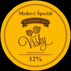 Pivo Vŕšky - Medový špeciál 12° - etiketa