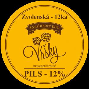 Pivo Vŕšky - Zvolenská 12-ka (Pils) 12° svetlé - etiketa