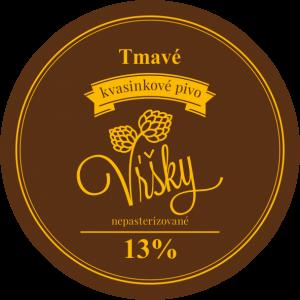 Pivo Vŕšky - tmavé 13° - etiketa