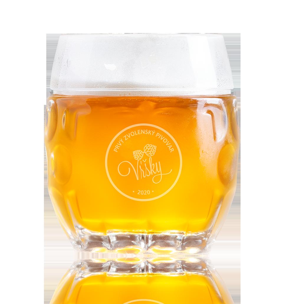 Pivo Vŕšky - načapovaný krígeľ svetlého piva